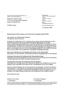 Briefe An Die Bürgermeister Von Langen Und Egelsbach Flug Lärm